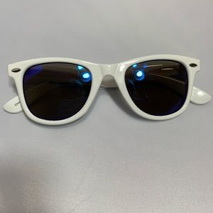 Other - White Frame Sunglasses Holographic Surf Surfer